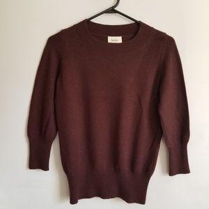 Neiman Marcus Sweater SML Brown Cashmere Crewneck